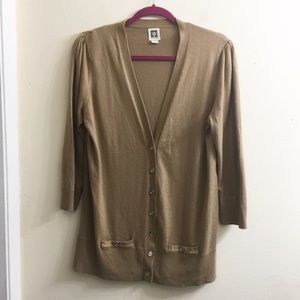 Anne Klein button down cardigan with pockets
